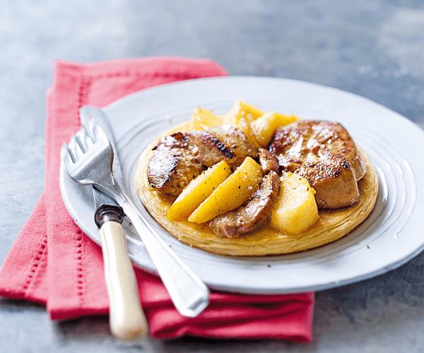 Tarte au foie gras et aux pommes