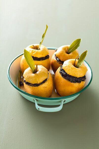 Pommes farcies au boudin noir